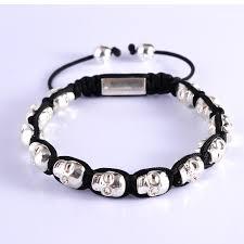 mens skull bracelet images New stylish mens skull bracelet rope diy silver alloy bangles jpg