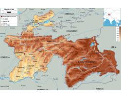 China Physical Map by Maps Of Tajikistan Detailed Map Of Tajikistan In English