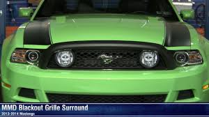 Blacked Out 2014 Mustang Mustang Mmd Blackout Grille Surround 13 14 All Review Youtube