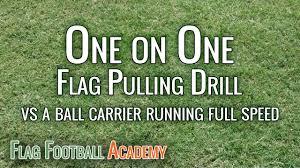 Best Flag Football Plays Flag Pulling Drill Stopping Sprinting Runner