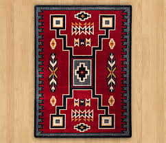 old crow red rug american dakota southwestern rugs depot