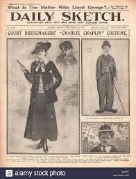 1915 front page daily sketch new ladies u0027charlie chaplin u0027 suit
