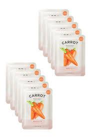Isaac Mizrahi Sheets It U0027s Skin The Fresh Carrot Mask Sheet Pack Of 10 Hautelook