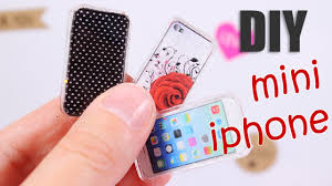 Diy by Diy Miniature Iphone Design Your Phone Case Youtube