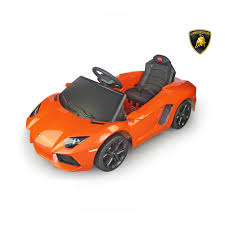 toy lamborghini best ride on cars lamborghini aventador 6v orange best ride on