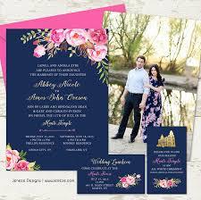 brunch invitation sle pink floral gold and navy wedding invitation set 2486198 weddbook