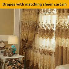 coffee latte brown mocha design fabric drapes sheer eyelet bedroom