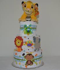 amazon com 3 tier safari baby diaper cake simba diaper cake