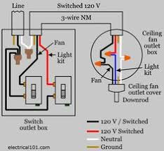 ceiling fan light switch wiring wire a ceiling fan 3 way switch diagram electric pinterest