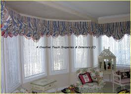 Balloon Curtains For Living Room Amusing Bay Window Balloon Valances Traditional Living Room Denver