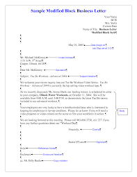 bunch ideas of modified block format letter writing also sample