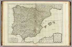 New Spain Map by A New Map Of The Kingdoms Of Spain And Portugal David Rumsey