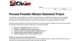 mission statement builder google docs