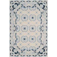 Gray And Blue Area Rug 6 X 9 Area Rugs Rugs The Home Depot