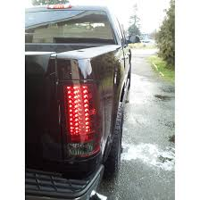 led brake lights for trucks 07 13 gmc sierra pickup truck led tail lights red smoked 111