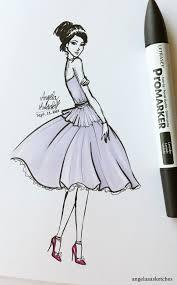 quick fashion sketch by angelaaasketches on deviantart