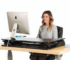 Sit Stand Office Desk Standing Desk The Deskriser Pro Height Adjustable Heavy Duty