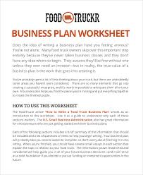 sample food truck business plan 11 examples in pdf