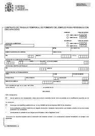 plantilla de nomina para rellenar modelos contrato de trabajo temporal de fomento del empleo para