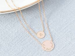 double chain necklace images Personalised layered double disc chain necklace jpg