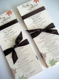 flat wedding programs fall wedding program templates the wedding specialists books