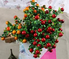Artificial Plant Decoration Home Artificial Fruits Six Branches Riches And Honour Imitation Fruit