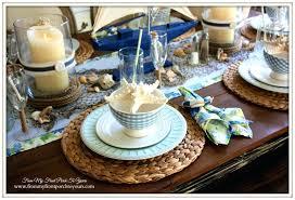 beach dining table decor coastal lamps room rustic farmhouse