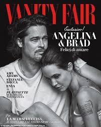 Tiger Woods Vanity Fair Brad Pitt And Angelina Jolie Pose Forportrait On The Cover Of