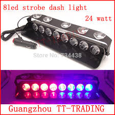 red and white led emergency lights 8led vehicle strobe light 24w police strobe lights car dash board