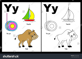 kids alphabet coloring book page outlined stock vector 255942364