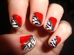 black and red nail design how you can do it at home pictures