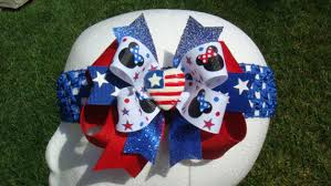 fourth of july hair bows hair accessories