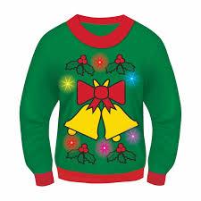 halloween sweaters amazon com forum novelties light up ugly christmas sweater clothing