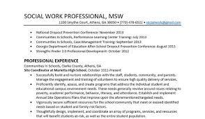 social worker sample resume social work resume sample writing