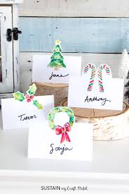 printable place cards free printable christmas place cards sustain my craft habit