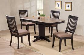 36 by 48 table x 48 solid wood cut corner table with four chairs