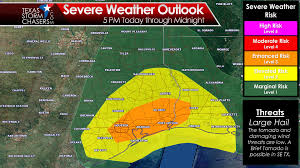 Weather Map Texas Severe Storm Risk Across Southeast Texas This Evening U2013 Spring