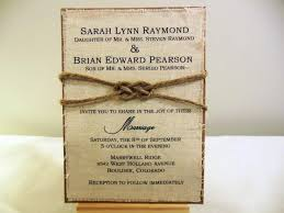 wedding invitations knot diy rustic wedding invitation kit burlap fabric rustic wedding