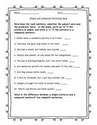 types of sentences quiz sentences reading specialist and literacy