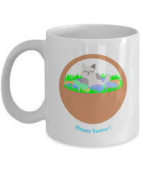 easter cat lovers gift ideas u003d kitty with easter basket mug