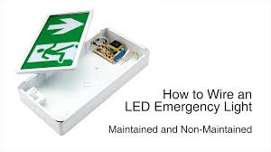 how to wire the biard led emergency door light youtube