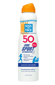 kiss my face sunscreen cool sport spray spf 50