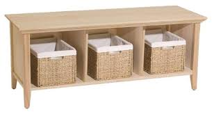 Storage Bench With Baskets Benches Storage Chests Unfinishedfurnitureexpo