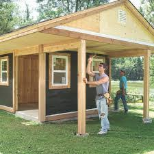 shed plans with a porch