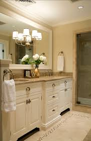 Bathroom Faucet Ideas Colors Cream Cabinets And Large Framed Mirror Pretty Hardware As Well