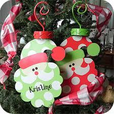 santa shaped polka dot metal ornaments