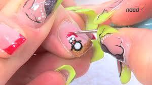 dessin sur ongle en gel décoration ongle nail art pour l u0027hiver et noël avec nded fr