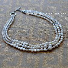 pearl sterling necklace images Freshwater pearl and sterling silver 3 strand necklace perle di jpg