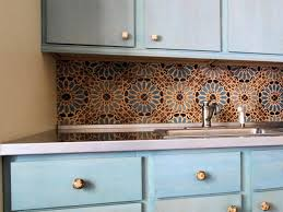 creative kitchen tile ideas with flower motif also single simple