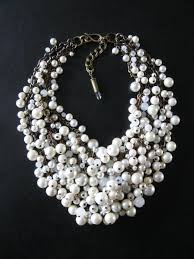 statement necklace pearl images 60 white statement necklaces handcrafted off white jumbo round jpg